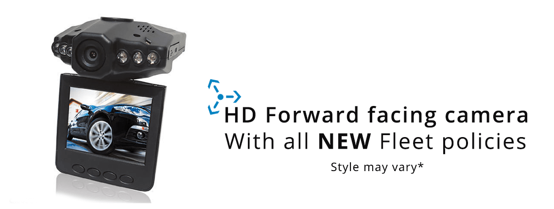 free foward facing hd camera for all new fleet policy