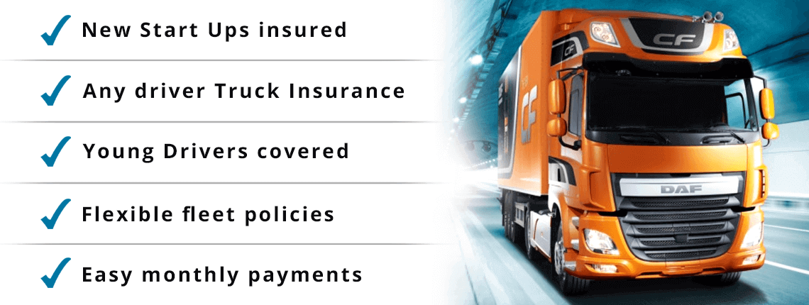 get your truck fleet & haulage vehicle insurance today